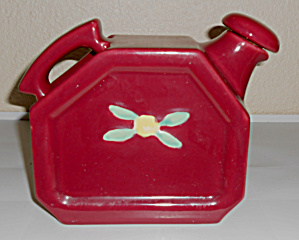 Coors Pottery Rosebud Red Water Server W/Cap!  MINT! (Image1)