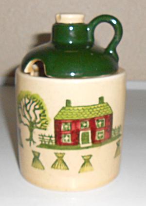 Metlox Pottery Homestead Provincial Jam/Mustard Jar!    (Image1)