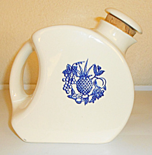 Cambridge China Oxford Pottery Blue Fruit Wide Canteen  (Image1)