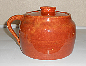 Bauer Pottery Plain Ware 1 Qt Red/Brown Bean Pot! (Image1)