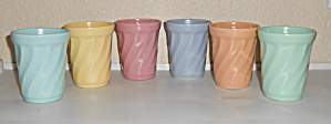 Metlox Pottery Poppy Trail Yorkshire Set 6 Tumblers! (Image1)