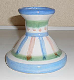 M A Hadley Pottery Decorated Candlestick Holder! (Image1)