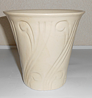 Pacific Pottery Early Art Deco 5-3/4 Ivory Flower Pot! (Image1)