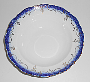 Flow Blue Imperial China Soup/cereal Bowl With Gold Dec