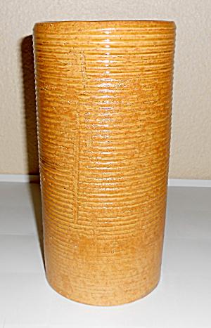 Zanesville Stoneware Pottery Company Ring Brown Vase! (Image1)