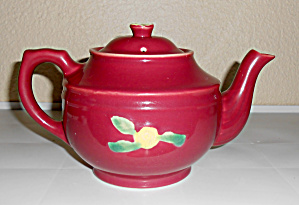 Coors Pottery Rosebud Red Large Teapot! VERY RARE (Image1)