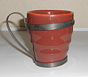 Franciscan Pottery El Patio Redwood Banded Tumbler W/me