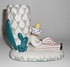 Abingdon Pottery Decorated Mexican Cactus Planter Vase! (Image1)