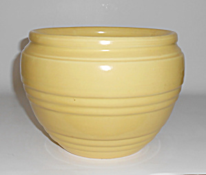 Pacific Pottery Yellow Banded Jardiniere #1501