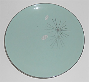 FRANCISCAN POTTERY FINE CHINA SILVER PINE BREAD PLATE! (Image1)