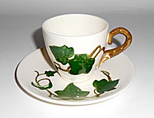 Metlox Pottery California Ivy Demitasse Cup/Saucer Set! (Image1)