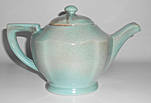 Gonder Pottery Green/pink Drip Teapot