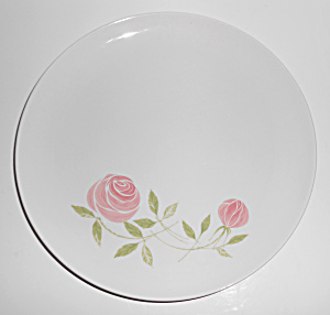 Franciscan Pottery Whitestone Pink-A-Dilly Dinner Plate (Image1)