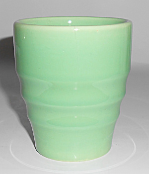 Franciscan Pottery El Patio Apple Green Banded Tumbler