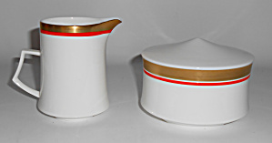 Mikasa Bone China Cabaret Creamer/sugar Bowl Set Mint