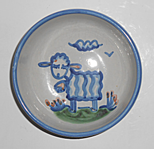 Hadley Pottery Pristine Decorated Sheep Bowl! MINT (Image1)