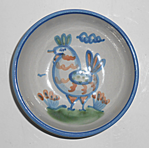 Hadley Pottery Pristine Decorated Rooster Bowl! MINT  (Image1)