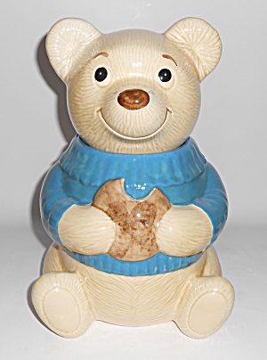 Metlox Pottery Poppy Trail Teddy Bear Eating Cookie Jar (Image1)