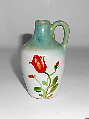 Zanesville Stoneware Pottery Floral Decorated J-4 Jug