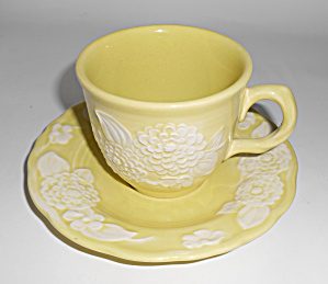 Metlox Pottery Poppy Trail Flora Lace Cup/saucer Set