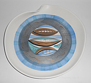 Sascha Brastoff Pottery Abstract Decoration Plate