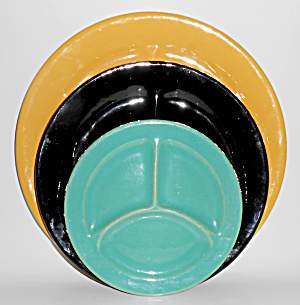 Bauer Pottery Plain Ware Very Rare Child's Jade Grill (Image1)