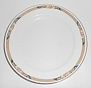 Carrolton China Floral w/Stripes Salad Plate!  (Image1)