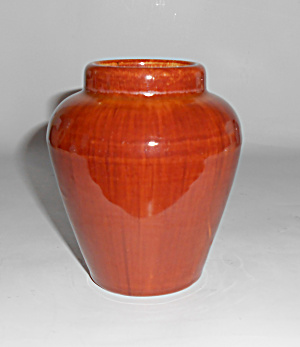 Pacific Pottery Early Rust Glaze Oil Jar Vase Mint