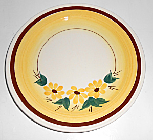 Vernon Kilns Pottery Brown Eyed Susan Salad Plate Mint
