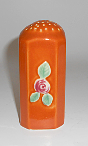 Coors Pottery Rosebud Orange Straight Shaker! MINT (Image1)