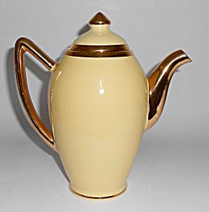 Santa Anita Pottery Yellow W/Gold Demi Coffeepot! (Image1)