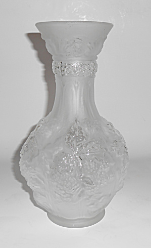 "Imperial Satin Glass 10-1/8"" Berry Vase Mint"