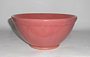 Bauer Pottery Plain Ware Dusty Rose #18 Mixing Bowl!  (Image1)