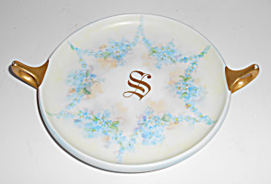 Rosenthal China Floral W/Gold Decorated Handled Dish! (Image1)