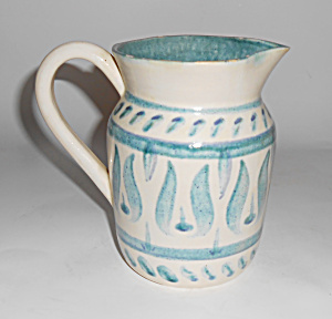 Orcas Island Pottery Decorated Pitcher!  VERY RARE (Image1)