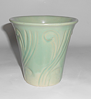 Pacific Pottery Early Art Deco 4.5 In Green Flower Pot! (Image1)