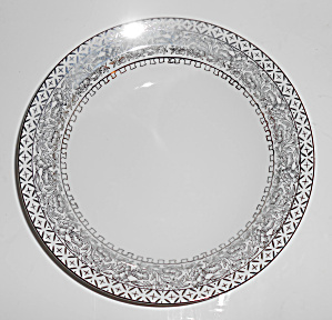 Kutani China Porcelain Platinum Decorated Soup Bowl!  (Image1)