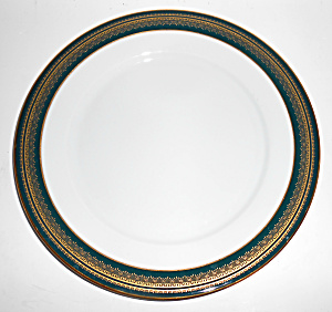 Noritake China Coventry Black W/Gold Dinner Plate! MINT (Image1)
