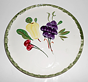 Blue Ridge Pottery Fruit Fantasy Snack Plate! MINT (Image1)