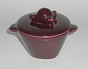 Winfield China Pottery Purple Covered Sugar Bowl