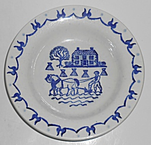 Metlox Pottery Poppy Trail Provincial Blue Rimmed Soup