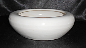 Bauer Pottery Hi Fire Gloss White Low Art Bowl Mint