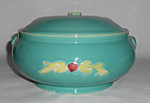 Coors Pottery Rosebud Green French Casserole Mint