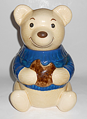 Metlox Pottery Poppy Trail Teddy Bear Eating Cookie Jar