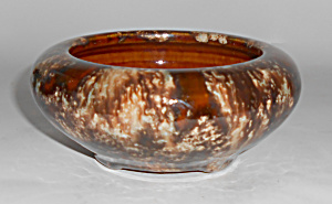 Brush Mccoy Pottery Brown Onyx #01 Art Bowl Mint