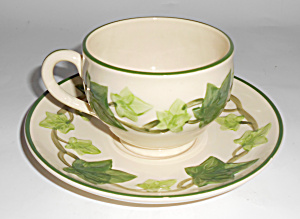 Franciscan Pottery U.s.a. Ivy Cup & Saucer Set Mint