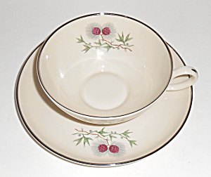 Society Fine Arts China Larchwood Cup/saucer Set Mint