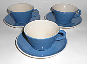 Winfield China Pottery Early 3/sets Cups & Saucers