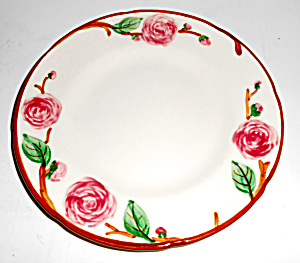 Metlox Pottery Poppy Trail Camellia Bread Plate! MINT (Image1)