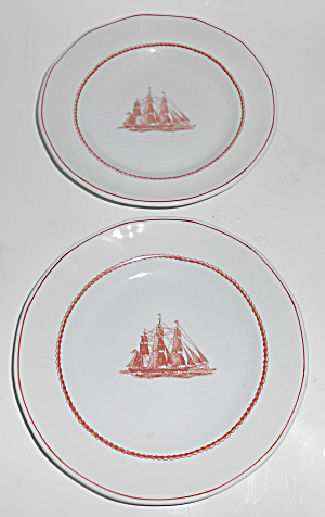 Wedgwood Pottery Flying Cloud Game Pr Cock Bread Plates